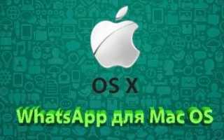 Подробная инструкция по установке приложения WhatsApp на Mac OS