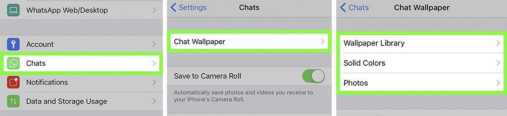Смены заставки в «Вацапе» на iPhone