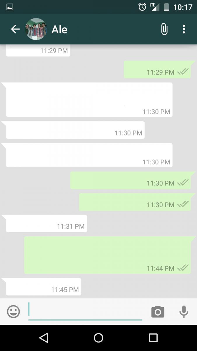 Постое сообщение Whatsapp