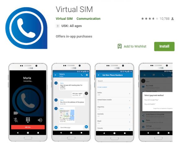 Программа Virtual SIM