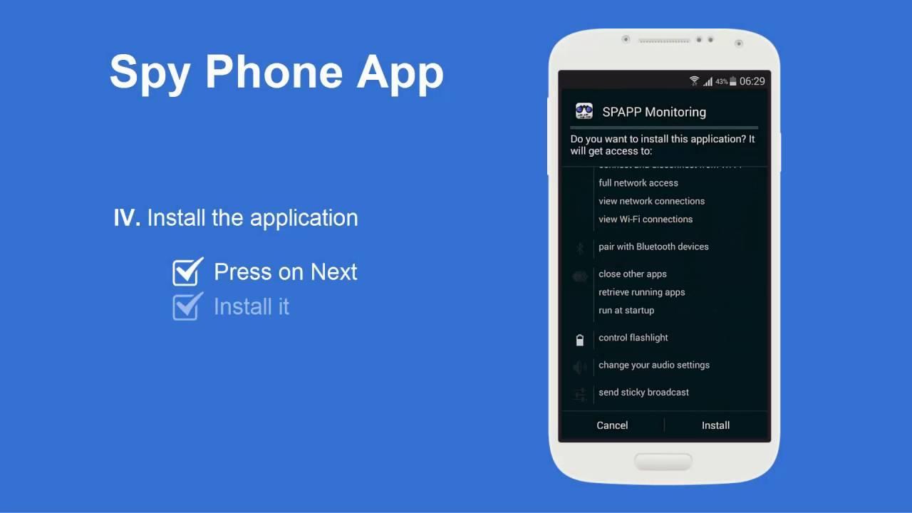Приложение Spy-phone-app для слежки