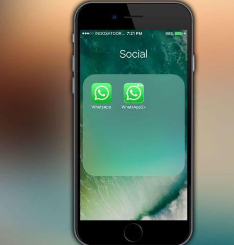 2 значка Ватсап на айфон