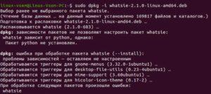 Загрузка WhatsApp на Linux